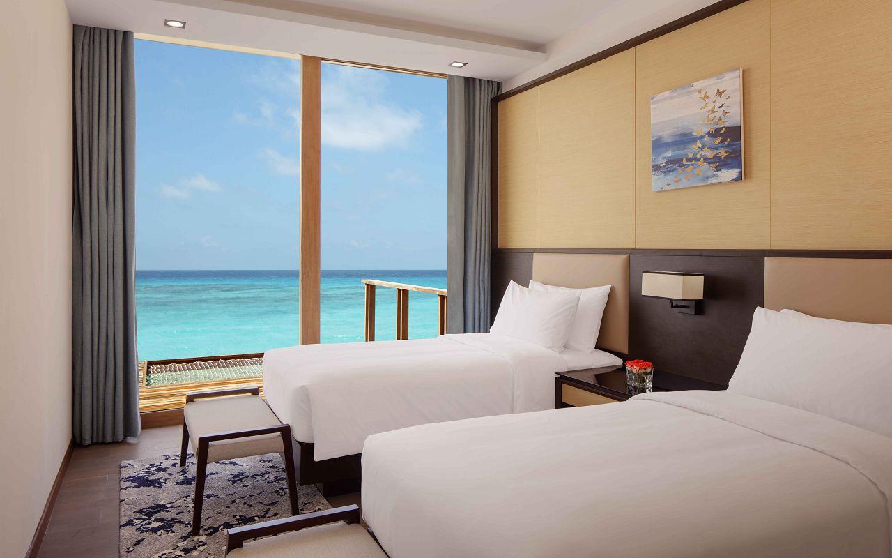 3 Bedroom Overwater Villa - Twin Room