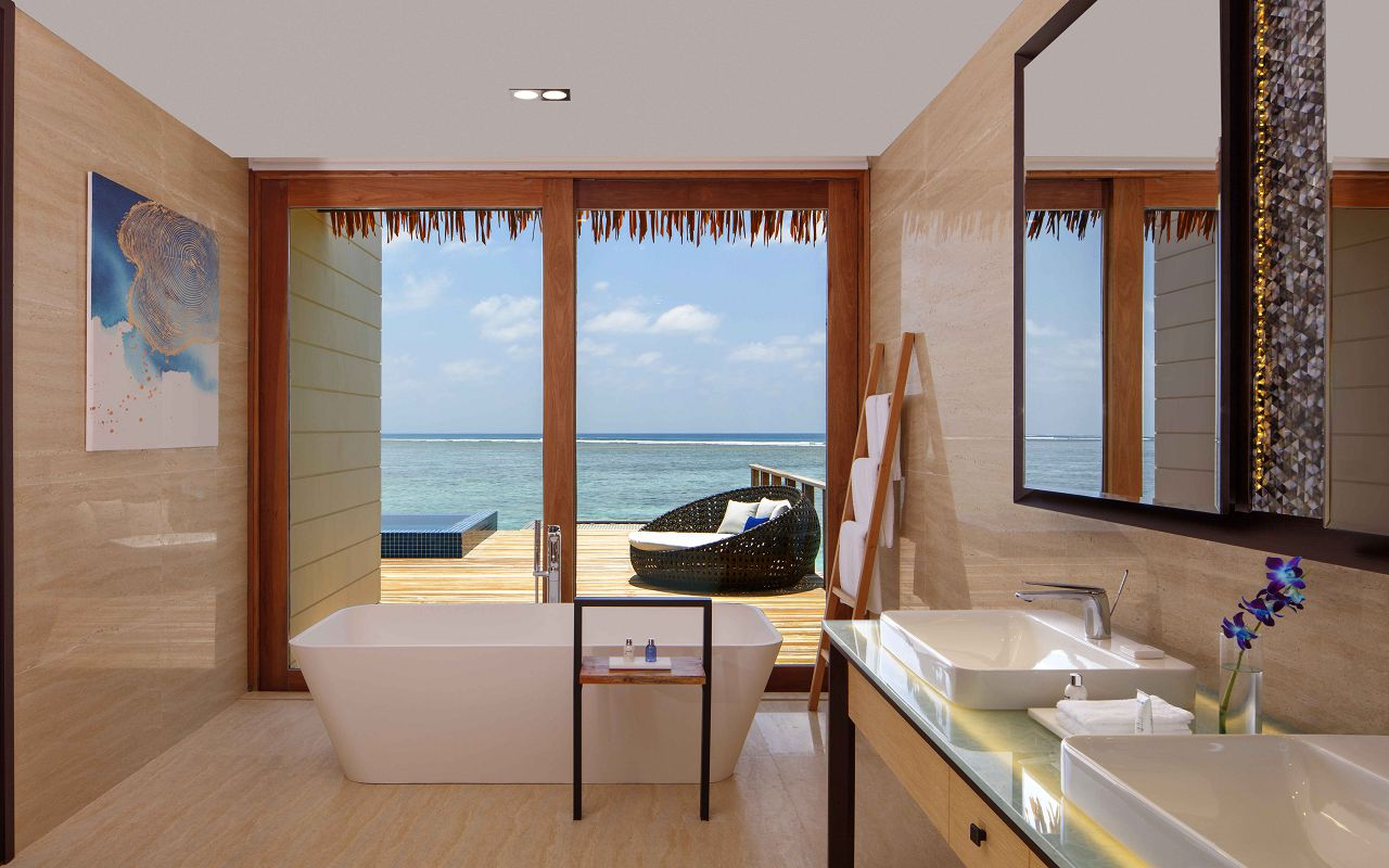 Overwater Villa - Bathroom with Ocean View