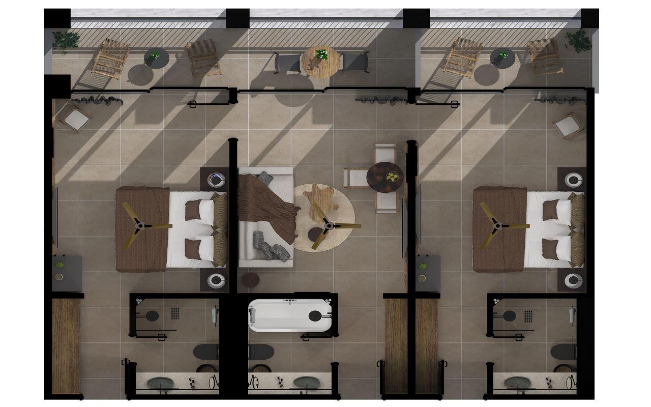 Family 2 bedroom Floorplan