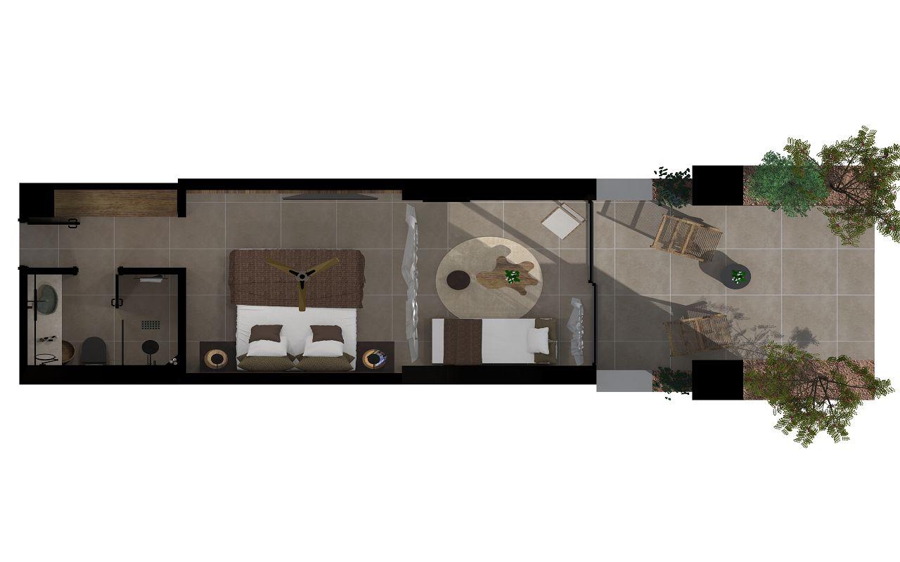 Tropical Open Plan Suite or Horizon Open Plan Suite or Sapphire Open Plan Suite with 1 extra single bed