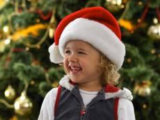 Young Girl in Santa Hat